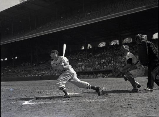 Dom DiMaggio batting